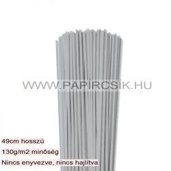 Ezüst, 3mm-es quilling papírcsík (120db, 49cm)