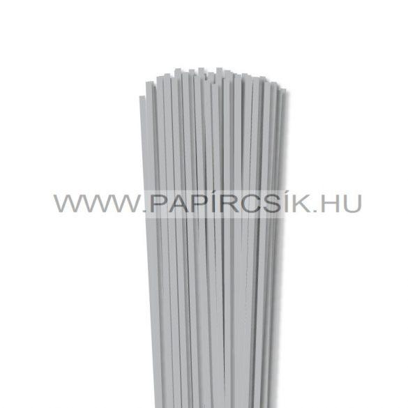 Ezüst, 4mm-es quilling papírcsík (110db, 49cm)