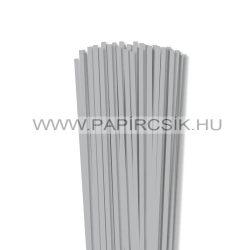 Ezüst, 5mm-es quilling papírcsík (100db, 49cm)