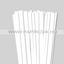 Fehér (Hófehér), 10mm-es quilling papírcsík (50db, 49cm)