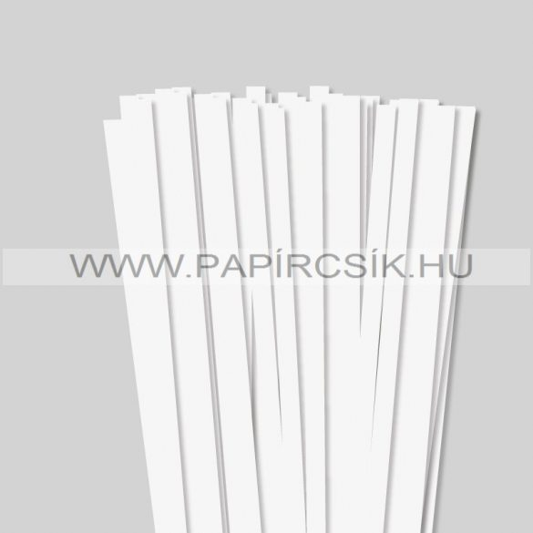 Gyöngyfehér (Törtfehér), 10mm-es quilling papírcsík (50db, 49cm)