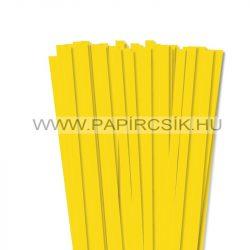 Sárga, 10mm-es quilling papírcsík (50db, 49cm)