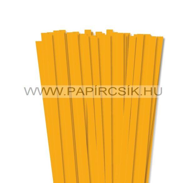 Sötétsárga, 10mm-es quilling papírcsík (50db, 49cm)