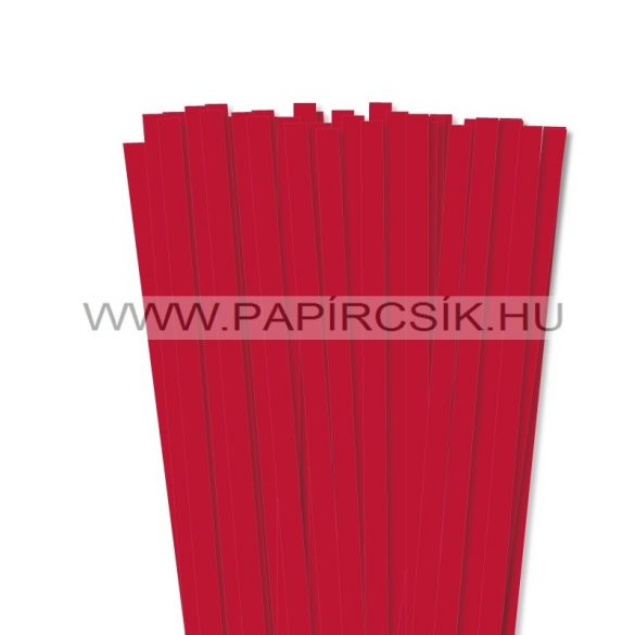 Élénk Piros, 10mm-es quilling papírcsík (50db, 49cm)
