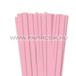 Rózsaszín, 10mm-es quilling papírcsík (50db, 49cm)
