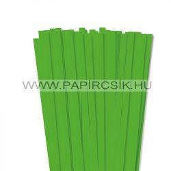 Fűzöld, 10mm-es quilling papírcsík (50db, 49cm)