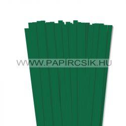 Sötétzöld, 10mm-es quilling papírcsík (50db, 49cm)