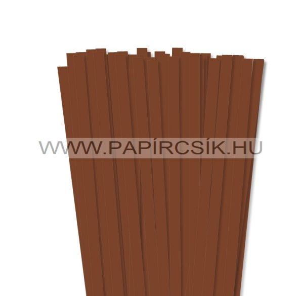 Barna, 10mm-es quilling papírcsík (50db, 49cm)