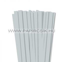 Világosszürke, 10mm-es quilling papírcsík (50db, 49cm)