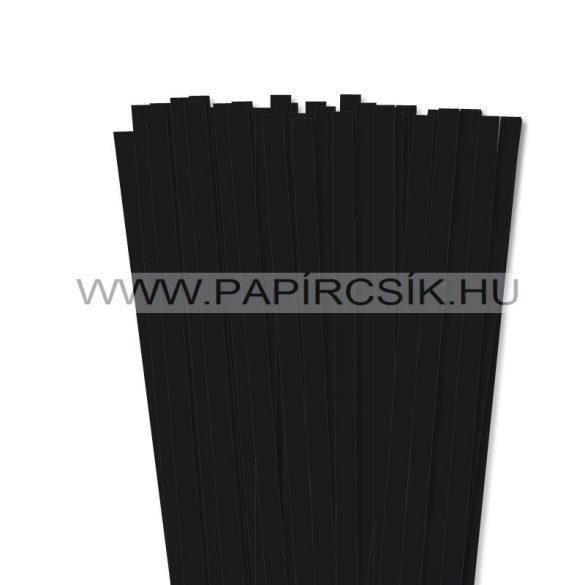 Fekete, 10mm-es quilling papírcsík (50db, 49cm)