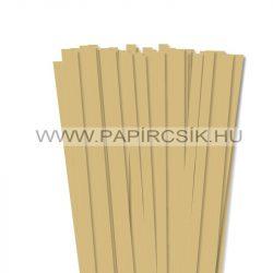 Arany, 10mm-es quilling papírcsík (50db, 49cm)