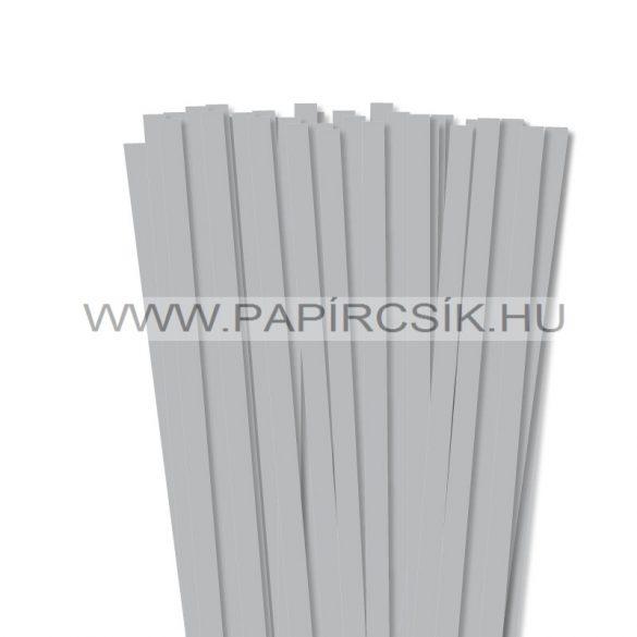 Ezüst, 10mm-es quilling papírcsík (50db, 49cm)