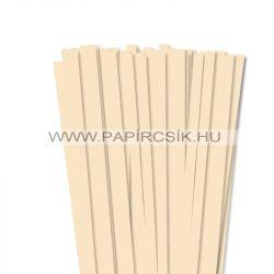 Krém, 10mm-es quilling papírcsík (50db, 49cm)