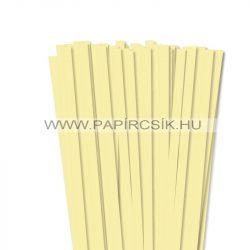 Halványsárga, 10mm-es quilling papírcsík (50db, 49cm)