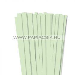 Halványzöld, 10mm-es quilling papírcsík (50db, 49cm)