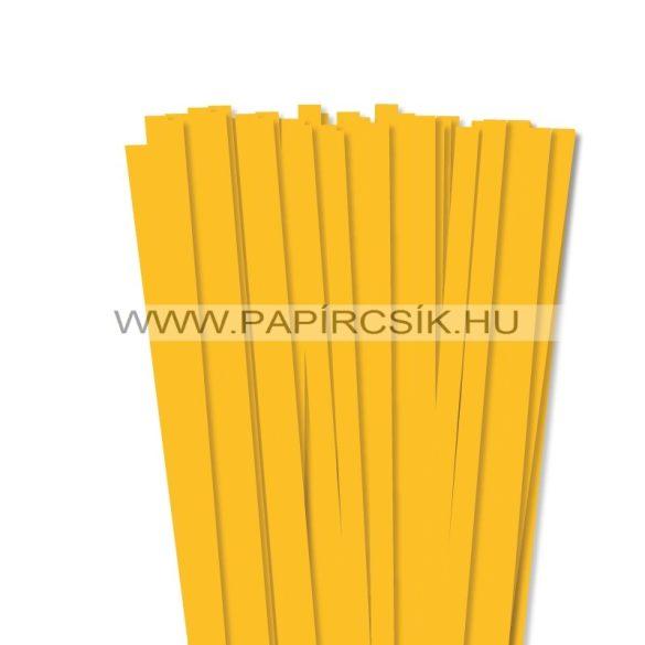 Napsárga, 10mm-es quilling papírcsík (50db, 49cm)