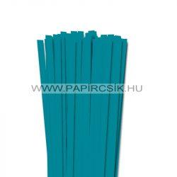 Türkiz, 10mm-es quilling papírcsík (50db, 49cm)