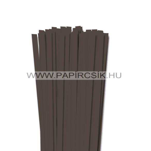 Sötétbarna, 10mm-es quilling papírcsík (50db, 49cm)