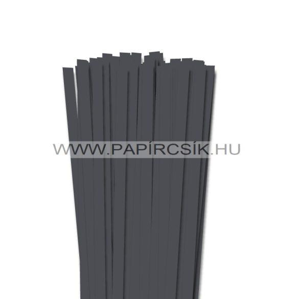 Antracit, 10mm-es quilling papírcsík (50db, 49cm)