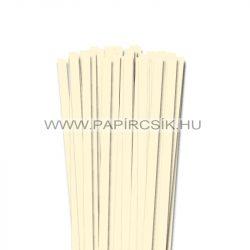 Elefántcsont, 10mm-es quilling papírcsík (50db, 49cm)