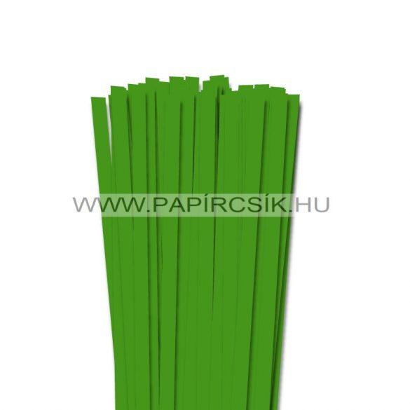 Zöld, 10mm-es quilling papírcsík (50db, 49cm)