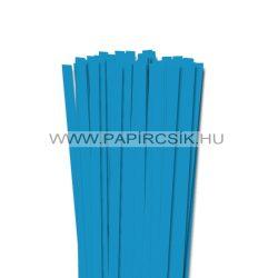 Azúrkék, 10mm-es quilling papírcsík (50db, 49cm)