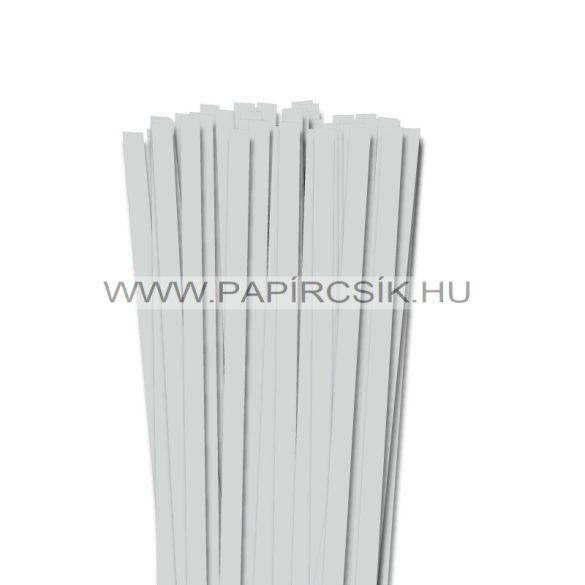Halványszürke, 10mm-es quilling papírcsík (50db, 49cm)