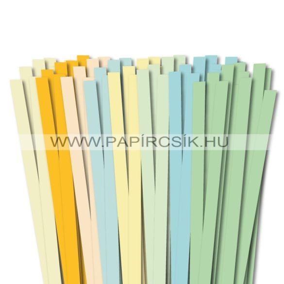 10mm, 49cm, 8x10db, quilling papírcsík kezdőcsomag V.