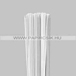 Fehér (Hófehér), 2mm-es quilling papírcsík (120db, 49cm)