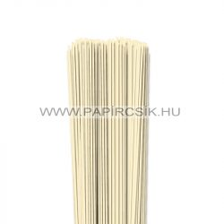 Elefántcsont, 2mm-es quilling papírcsík (120db, 49cm)