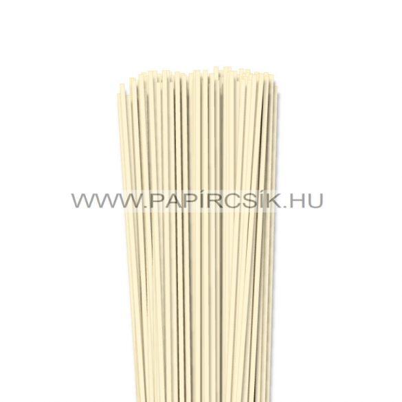 Elefántcsont, 3mm-es quilling papírcsík (120db, 49cm)