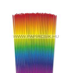 Szivárvány, 3mm-es quilling papírcsík (120db, 48cm)
