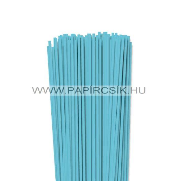 Aqua kék, 4mm-es quilling papírcsík (110db, 49cm)
