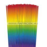 Szivárvány, 4mm-es quilling papírcsík (110db, 48cm)