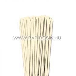 Elefántcsont, 5mm-es quilling papírcsík (100db, 49cm)
