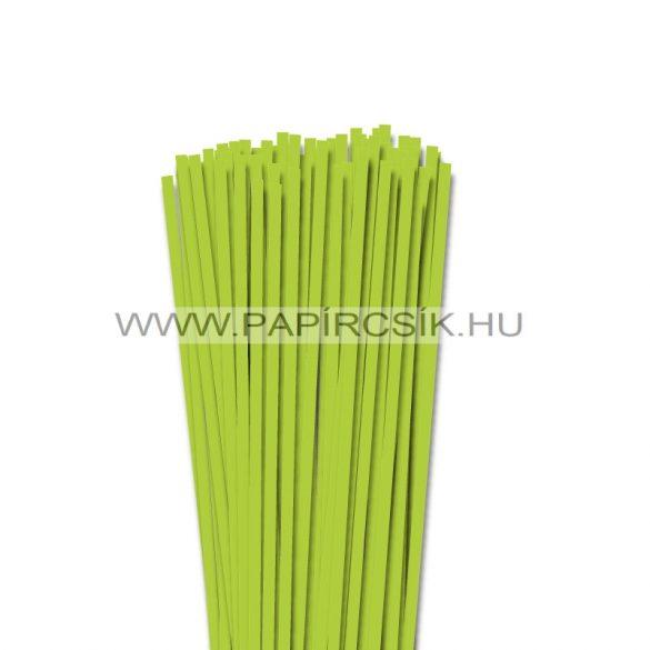 Tavaszi zöld, 5mm-es quilling papírcsík (100db, 49cm)