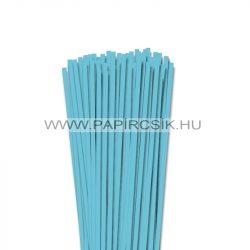 Aqua kék, 5mm-es quilling papírcsík (100db, 49cm)