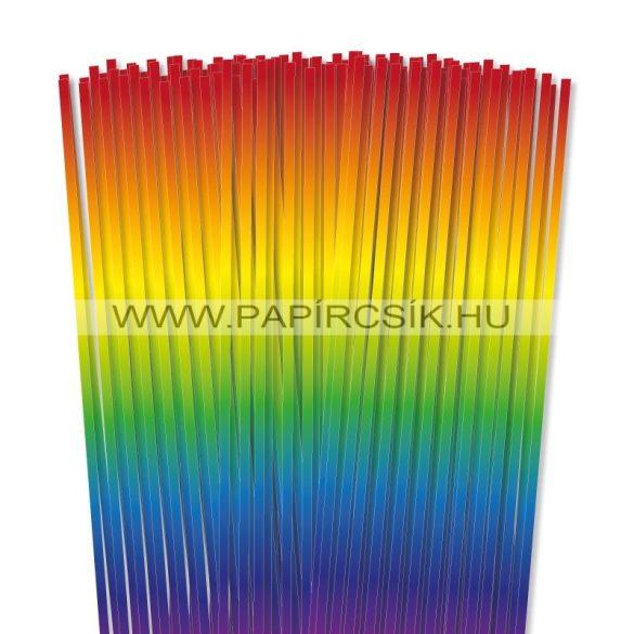 Szivárvány, 5mm-es quilling papírcsík (100db, 48cm)