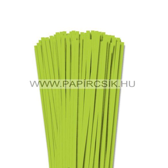 Tavaszi zöld, 6mm-es quilling papírcsík (90db, 49cm)