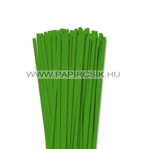 Zöld, 6mm-es quilling papírcsík (90db, 49cm)