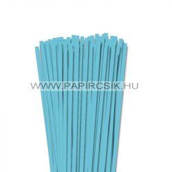 Aqua kék, 6mm-es quilling papírcsík (90db, 49cm)