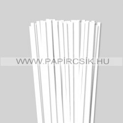 Fehér (Hófehér), 7mm-es quilling papírcsík (80db, 49cm)