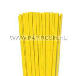 Sárga, 7mm-es quilling papírcsík (80db, 49cm)
