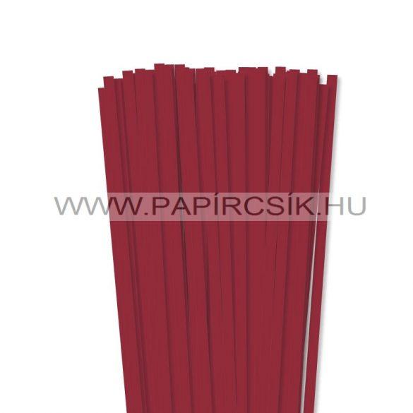 Sötétpiros, 7mm-es quilling papírcsík (80db, 49cm)