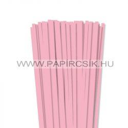 Rózsaszín, 7mm-es quilling papírcsík (80db, 49cm)