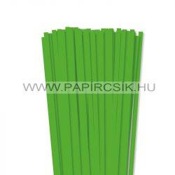Fűzöld, 7mm-es quilling papírcsík (80db, 49cm)