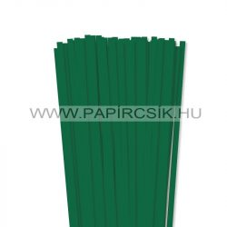 Sötétzöld, 7mm-es quilling papírcsík (80db, 49cm)