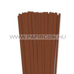 Barna, 7mm-es quilling papírcsík (80db, 49cm)