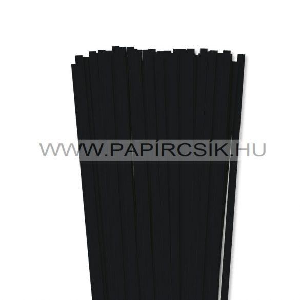 Fekete, 7mm-es quilling papírcsík (80db, 49cm)