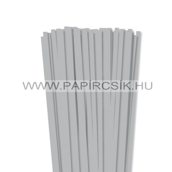 Ezüst, 7mm-es quilling papírcsík (80db, 49cm)